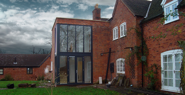 Contemporary extension to listed building