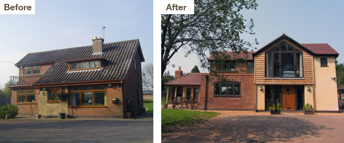 Remodelling before and after
